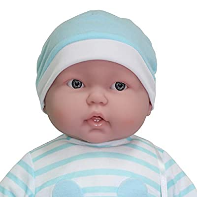 JC Toys Designed by Berenguer Lots to Cuddle Babies' 20-Inch Blue Soft Body Baby Doll and Accessories: Toys & Games
