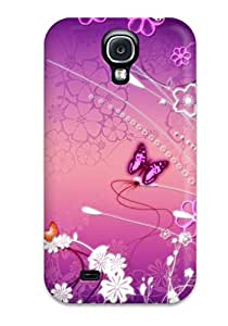 Unique Design Galaxy S4 Durable Tpu Case Cover Butterfly