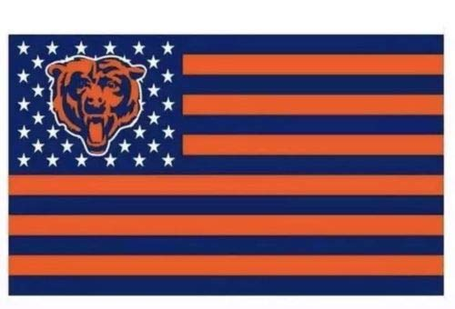 (Chicago Bears American Flag Logo Flag 3x5- With Grommets)