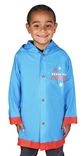 Nickelodeon Boys Paw Patrol Blue Rain Slicker - Size 6-7