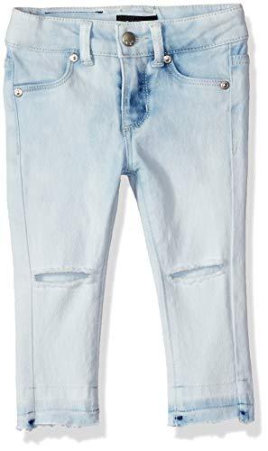 DKNY Girls' Toddler Knee Slit Ankle Jegging, Cloud wash -