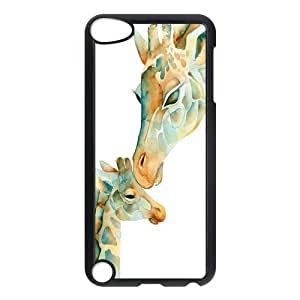 Customized Giraffe Durable Case Rubber Plastic Protection Cover For iPod Touch 5th Generation