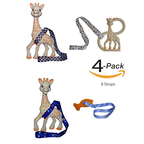 8 Straps Hnybaby Straps Baby Stroller Accessories Toy Strap For Baby Toys Bottles Sippy Cups (Blue/Black) by Hnybaby
