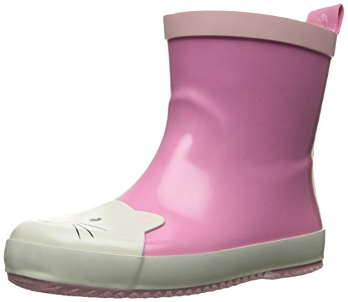 Image of Carter's Girls' Liany-R Novelty Slipon Rain Boot, Pink/White, 12 M US Little Kid