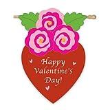 Cheap Valentine's Bouquet with Love Garden Flag Size: 44″ H x 28″ W