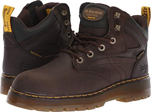 Dr Marten Hiker Boots - Dr. Martens Work Men's Plenum WP ST 6-Tie Boot Dark Brown 10 D UK