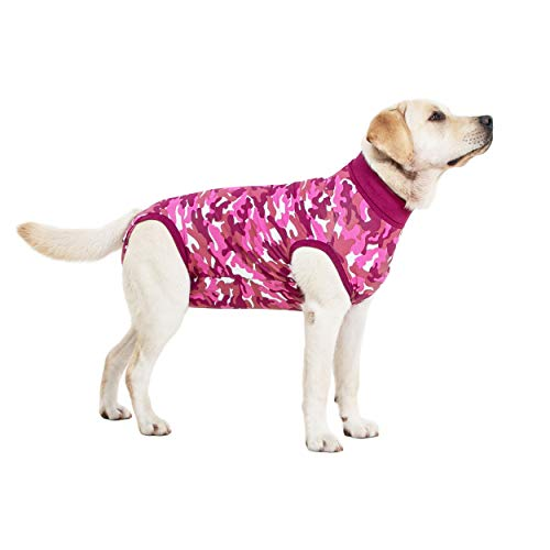 Suitical Recovery Suit Dog, Medium, Pink Camouflage