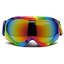 GWELL Kid's Fashion Pro Wide Vision Ski Goggles Double Clarity Lens Anti Fog UV400 Protection Snow Goggles