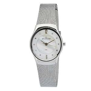 Skagen Women's O693XSGSW Quartz Nother Of Pearl Dial Stainless Steel Watch
