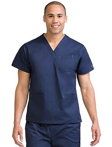 Med Couture 8471 Mc2 for Men V-Neck Scrub Top Navy L (Welt V-neck Pocket)