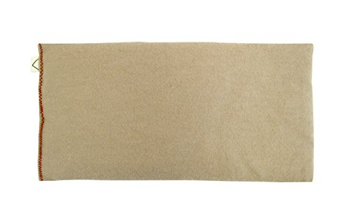 Peacegoods Unscented Organic Flax Seed Eye Pillow - Soft Cotton Flannel 4 x 8.5 - -