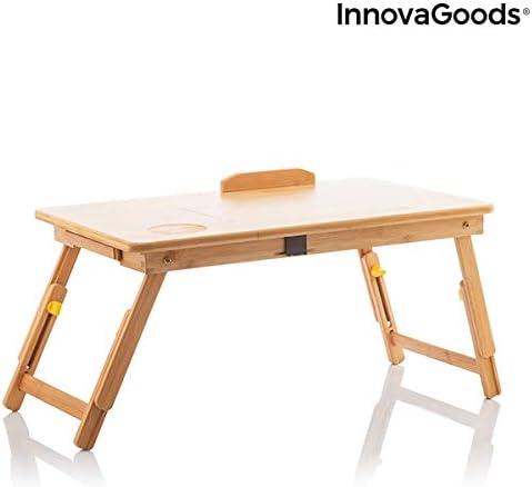 InnovaGoods | Bandeja para cama plegable | Mesa auxiliar de madera ...