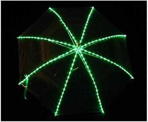 Parapluie Lumineux /à LED Transparent JTIH/® Parapluie Droit