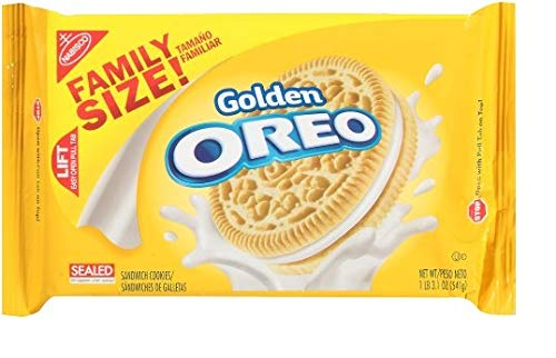 Nabisco Oreo Golden Sandwich Cookies Family Size 191oz Bag Pack of 6