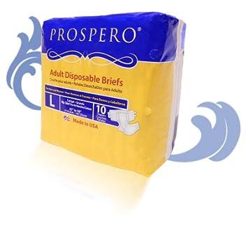 Prospero Adult Disposable Briefs Couche Pour Adult for Men and Women