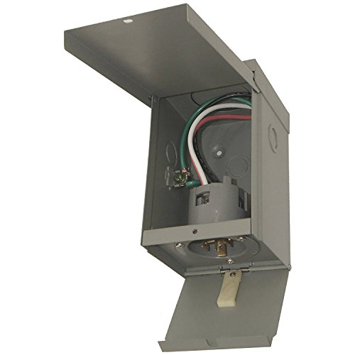 Connecticut Electric 30 Amp Power Inlet Box with Hinged ()