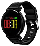 Smart Band, Collasaro Fitness Tracker Watch with Bluetooth and Water Resistance, Heart Rate Monitor, Call Reminder and Pedometer, Compatible with iOS iPhone and Android phones (TW-Black/Black)