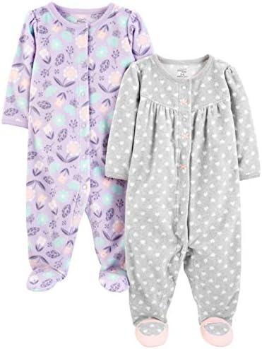 Essentials Baby-Jungen 2-Pack Microfleece Sleep and Play