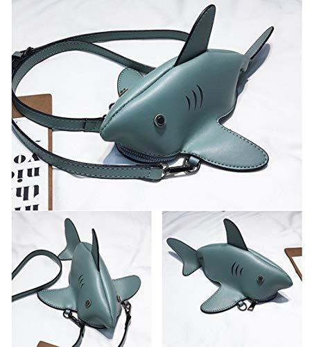 Colore Cross Stereo Shark Feroce Animato Borsetta Cartone white Creativa Bag Cute Simulazione Animale Body A Zwzh Diagonale 3d Tracolla Borsa Blue Bag Donne EAwxqWT