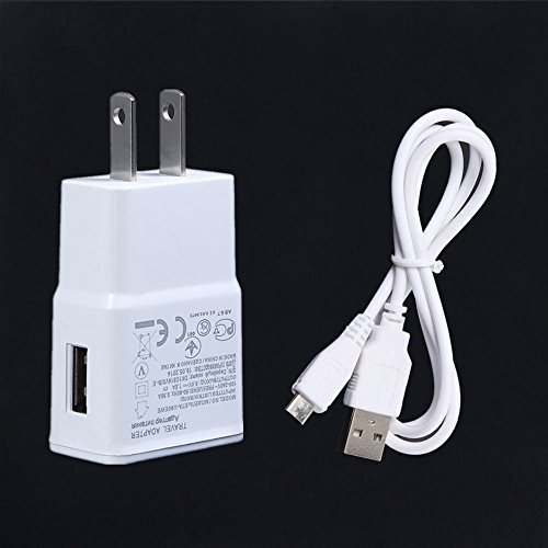 NiceTQ Wall AC Power Charger + USB Charging Data Cable For LG G Pad VK810 8.3 LTE Tablet