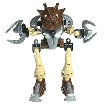 LEGO Bionicle TOA Super NUVA Figure #8568 Pohatu Brown: Toys & Games