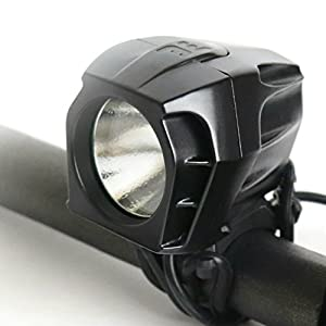 Bright Eyes FULLY WATERPROOF 1600 lumen Rechargeable Mountain, Road Bike Headlight, 6400mAh battery (NOW 5+ HOURS on Bright Beam). Comes w/ FREE DIFFUSER LENS and FREE TAILLIGHT