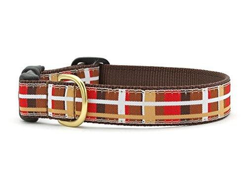 "Up Country Nob Hill Plaid Dog Collar (Medium (12-18"") 1"" wide)"