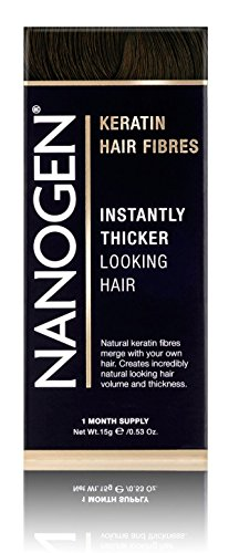 Nanogen Keratin Hair Fibers to Hide Bald Spots - Dark Brown, 15 grams