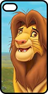 Cartoon Lion Black Plastic Case for Apple iPhone 5 or iPhone 5s