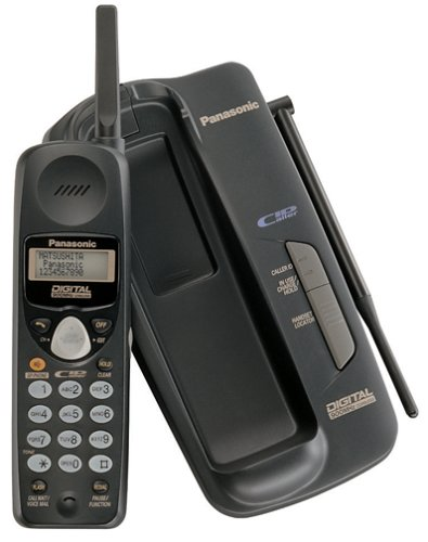 Panasonic KXTC1703B 900MHz Cordless Phone with Caller ID (Black)