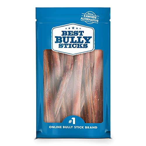 Best Bully Sticks Premium 12-inch Thick Bully Sticks (10 Pack) - All-Natural, Grain-Free, 100% Beef, Single-Ingredient Dog Treat Chew Promotes Dental Health]()