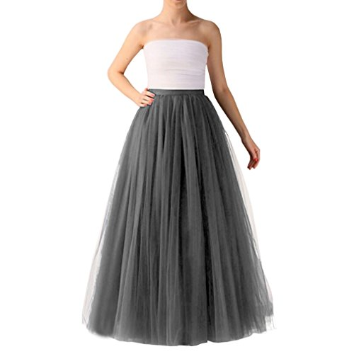 Wedding Planning Women's Long Tutu Tulle Skirt A Line Floor Length Skirts Large - Skirt Mystery