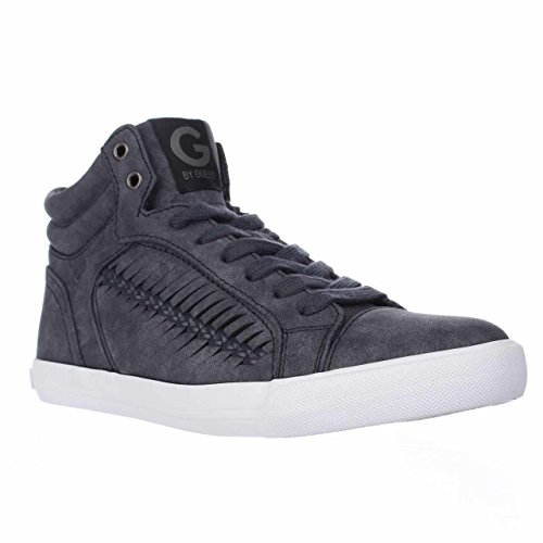 G Door Guess Womens Olisa Hoogte Top Lace Up Mode Sneakers Blauw / Medium