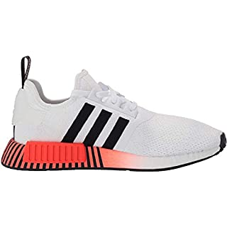 adidas Originals mens Nmd_r1 Sneaker, White/Black/Solar Red, 4 US