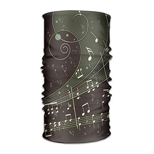 Ustcyla Music Notes Kerchief Bandanas Sweatband Headwear Headscarf Elastic Turban -
