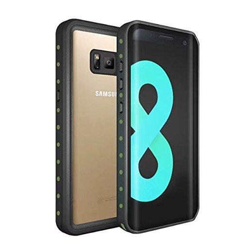 Galaxy S8 Waterproof Case, YMCCOOL Underwater Protective /Shockproof/Snowproof/Dirtproof With Sensitive Touch Screen IP68 Certified Waterproof Case for Samsung Galaxy S8