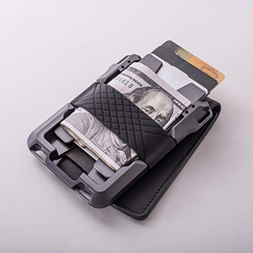 Dango M1 Maverick Bifold Wallet - Jet Black/Slate Grey - Made in USA