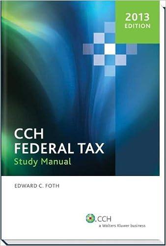 Federal Tax Study Manual (2013)