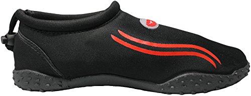 Der Wave Herren Aqua Schuh Schwarz Rot