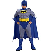 Batman Deluxe Muscle Chest Disfraz de Batman para niño, grande