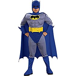 Batman Deluxe Muscle Chest Batman Child's Costume, Small, Blue (Discontinued by manufacturer)