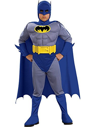 Rubie's Costume Co Batman Deluxe Muscle Chest Batman Child's Costume, Small Blue ()