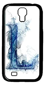 Brian114 Samsung Galaxy S4 Case, S4 Case - Cool Black Back Hard Case for Samsung Galaxy S4 I9500 26 Ink Letter Of L Design Hard Snap-On Cover for Samsung Galaxy S4 I9500