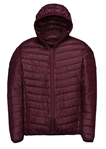 XINHEO Men Plus-Size Ultra Light Weight Solid Relaxed-Fit Down Jackets AS10