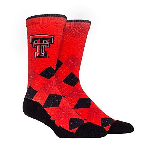 (NCAA Super Premium College Fan Socks (L/XL, Texas Tech Red Raiders - Argyle))