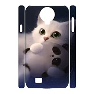 ALICASE Diy Case Lovely Cat Cover For Samsung Galaxy S4 i9500 [Pattern-1]