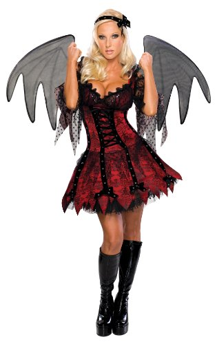 Secret Wishes Sexy Vampire Fairy Costume, Red, Medium