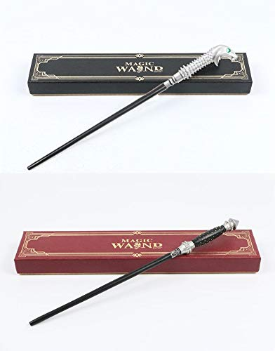 Cultured Customs Magical Wand Replica: Lucius Malfoy + Narcissa Malfoy - Cosplay Prop Collectible Set + Bonus Trading Card]()