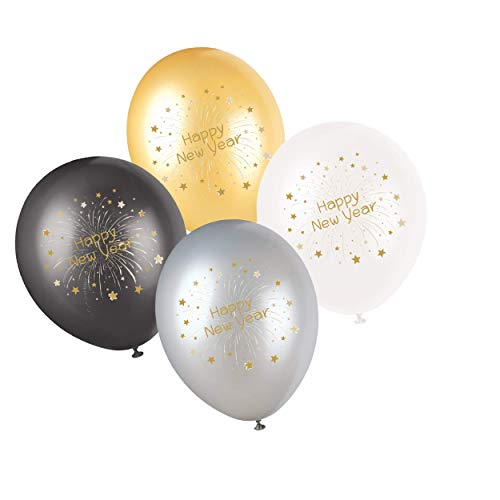 Partay Shenanigans 50-Pack New Year's Eve NYE Party Celebrate Balloons -