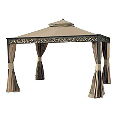 Garden Winds Replacement Canopy for Gazebo Model L-GZ399PAL-1 (Will Not Fit Any Other Model) – Riplock 350 Performance Fabric : Replacement Canopy Gazebo For Bj : Garden & Outdoor